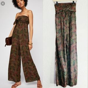 Free People All In Tie Jumpsuit XS NEW